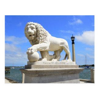 Bridge of Lions Sculpture Postcard