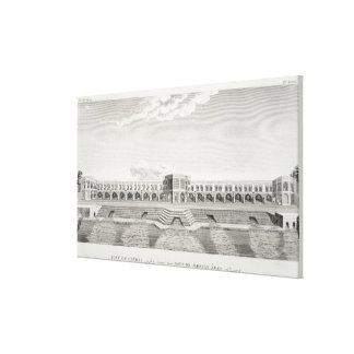 Bridge of Shiraz, Isfahan, from 'Voyages du Chevel Canvas Print