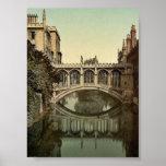 Bridge of Sighs, Cambridge, England vintage Photoc