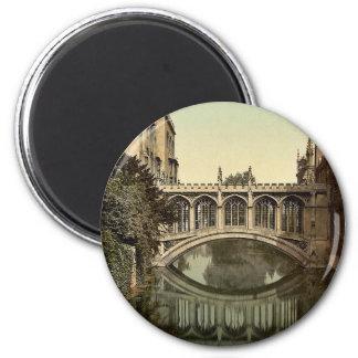 Bridge of Sighs, Cambridge, England vintage Photoc Magnet