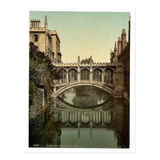 Bridge of Sighs, Cambridge, England vintage Photoc Postcard
