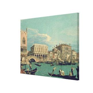 Bridge of Sighs, Venice  c.1740 Canvas Print