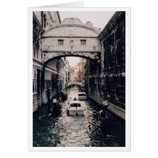 Bridge of Sighs, Venice, Italy Card