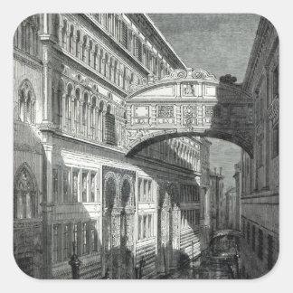 Bridge of Sighs, Venice Square Sticker