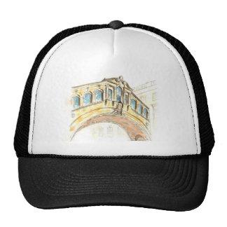 Bridge of Sighs watercolour drawing Trucker Hats