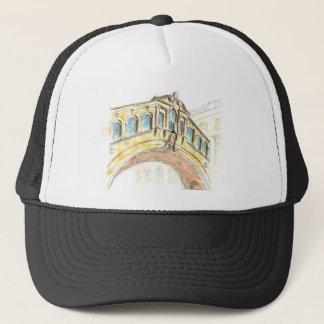 Bridge of Sighs watercolour drawing Trucker Hat
