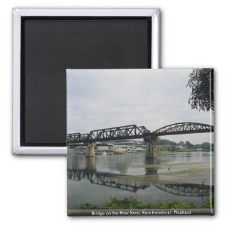 Bridge on the River Kwai, Kanchanaburi, Thailand Square Magnet