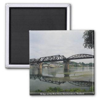 Bridge on the River Kwai, Kanchanaburi, Thailand Square Magnet