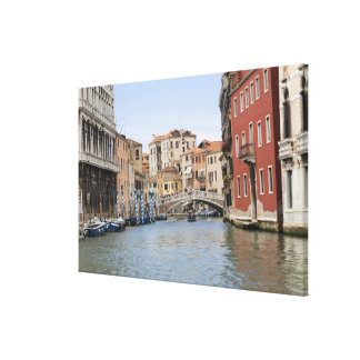 Bridge over a canal, Grand Canal, Venice, Italy Gallery Wrapped Canvas