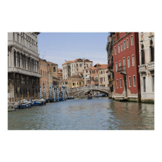 Bridge over a canal, Grand Canal, Venice, Italy Poster