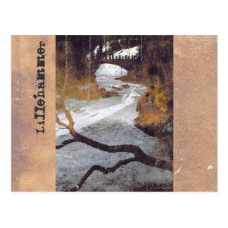 Bridge Over a Frozen Stream by Alexandra Cook Postcard