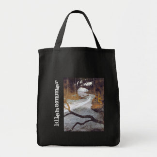 Bridge Over a Frozen Stream by Alexandra Cook Grocery Tote Bag