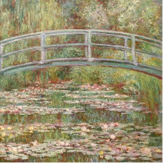 Bridge Over a Pond of Water Lilies Photo Sculpture Decoration