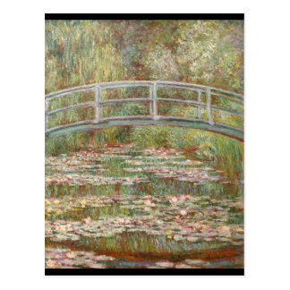 Bridge Over a Pond of Water Lilies Post Cards