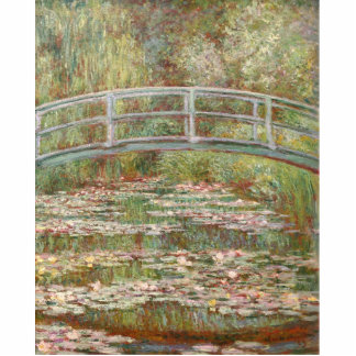 Bridge Over a Pond of Water Lilies Standing Photo Sculpture