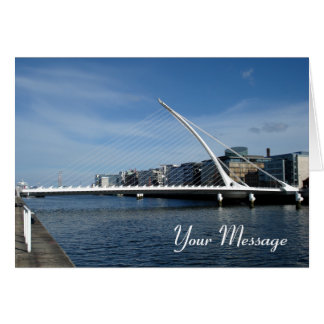 Bridge Over Dublin Ireland River Card