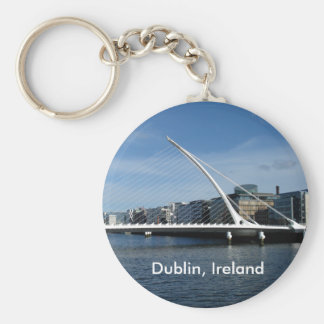 Bridge Over Dublin Ireland River Keyring Basic Round Button Key Ring