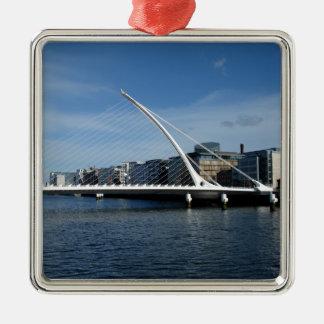 Bridge Over Dublin Ireland River Pendant Silver-Colored Square Decoration