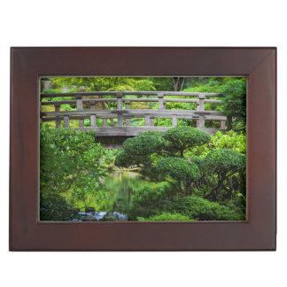 Bridge Over Pond In The Japanese Garden Keepsake Box