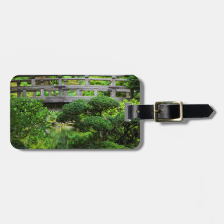 Bridge Over Pond In The Japanese Garden Luggage Tag