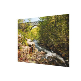 Bridge Over River Canvas Print