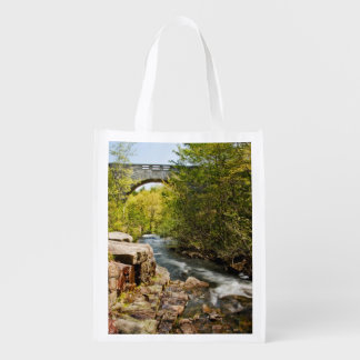 Bridge Over River Reusable Grocery Bag