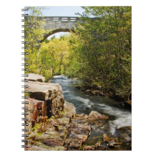 Bridge Over River Spiral Notebook