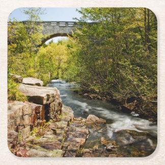 Bridge Over River Square Paper Coaster
