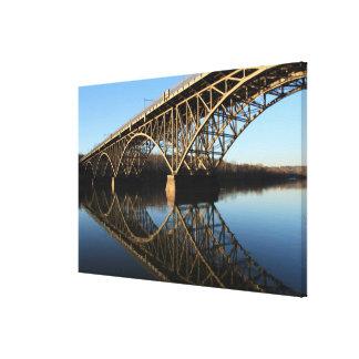 Bridge Over Schuylkill River Canvas Print