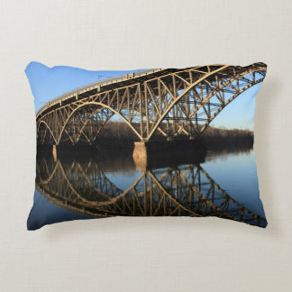 Bridge Over Schuylkill River Decorative Cushion