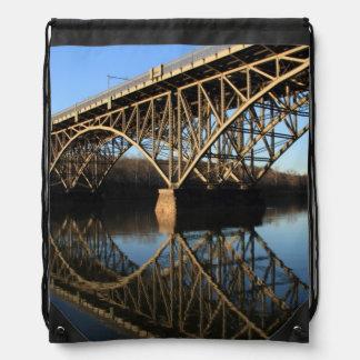 Bridge Over Schuylkill River Drawstring Bag