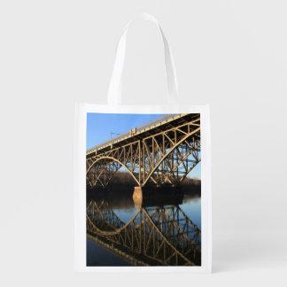 Bridge Over Schuylkill River Reusable Grocery Bag