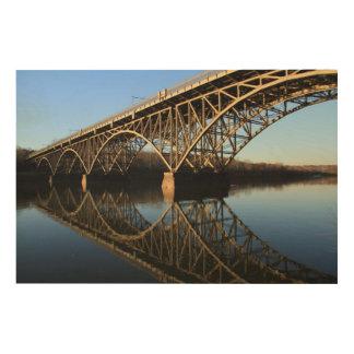 Bridge Over Schuylkill River Wood Print