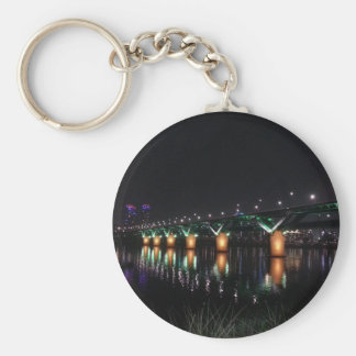 Bridge over the Han River at Night Key Chain