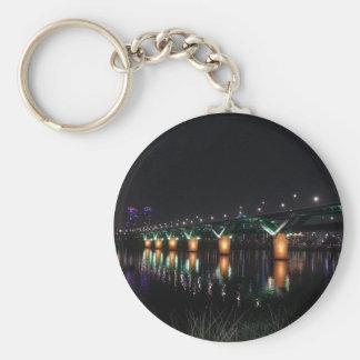 Bridge over the Han River at Night Key Chain