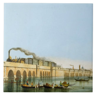 Bridge over the Lagoon, from 'Views of Principal m Large Square Tile