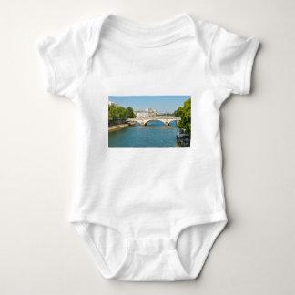 Bridge over the river Seine in Paris, France Baby Bodysuit