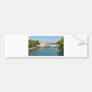 Bridge over the river Seine in Paris, France Bumper Sticker