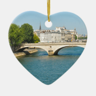 Bridge over the river Seine in Paris, France Christmas Ornament