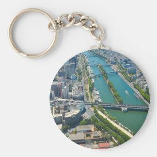 Bridge over the river Seine in Paris, France Key Ring