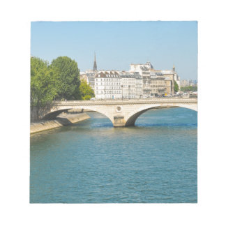 Bridge over the river Seine in Paris, France Notepad