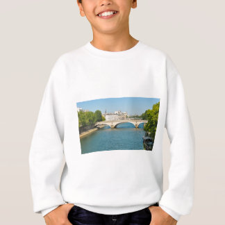 Bridge over the river Seine in Paris, France Sweatshirt