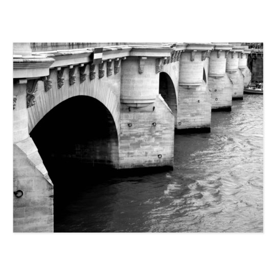 Bridge over the Seine Postcard