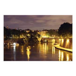 Bridge Over The Tiber River Photo Print