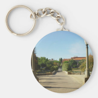 Bridge Over The Torrens To University At Adelaide Basic Round Button Key Ring