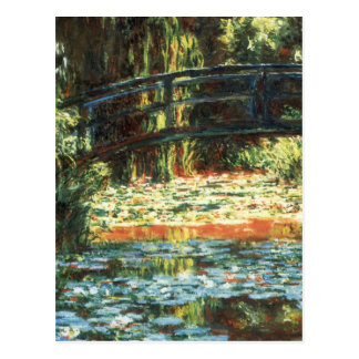 Bridge Over The Water Lily Pond by Claude Monet Postcard
