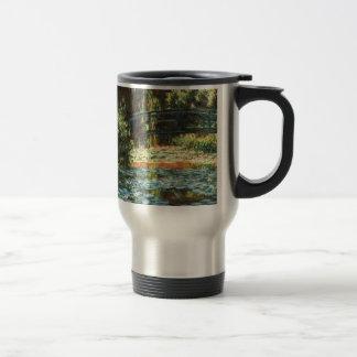 Bridge Over the Waterlily Pond by Claude Monet Travel Mug