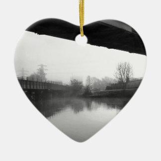 Bridge over troubled water ceramic heart decoration