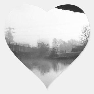 Bridge over troubled water heart sticker
