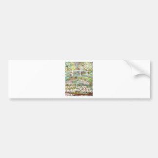 Bridge Over Water Lilies Pond - Claude Monet Car Bumper Sticker